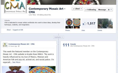 Krystie Rose named Featured Artist on Contemporary Mosaic Art!