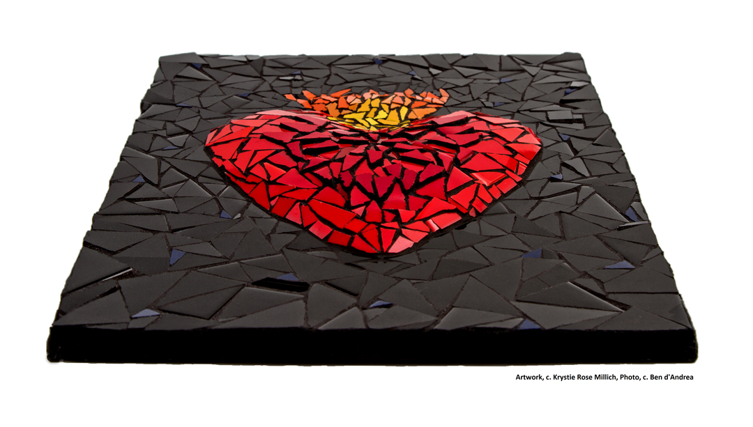 krystie rose millich denver tile mosaic artist heart on fire