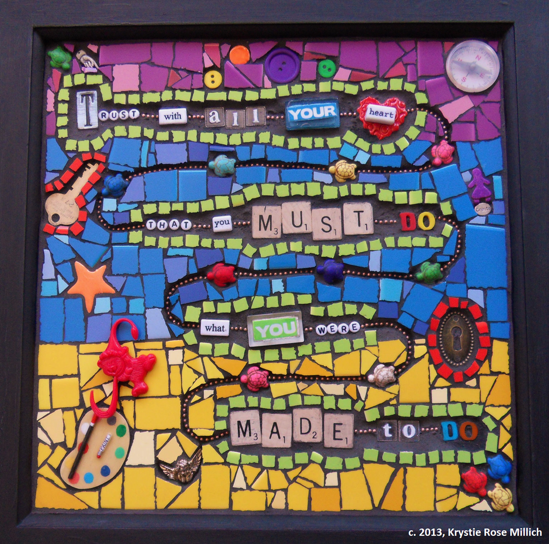 Krystie Rose Millich Tile mosaic artist in denver colorado and southwest united states made to do