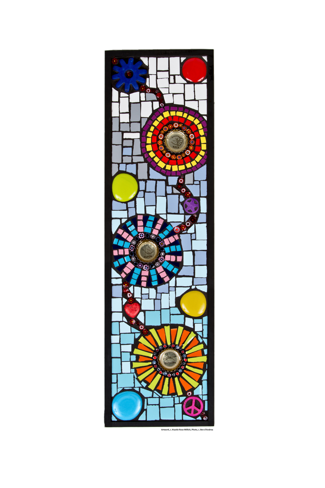 krystie rose millich tile mosaic artist in denver colorado rock paper scissors