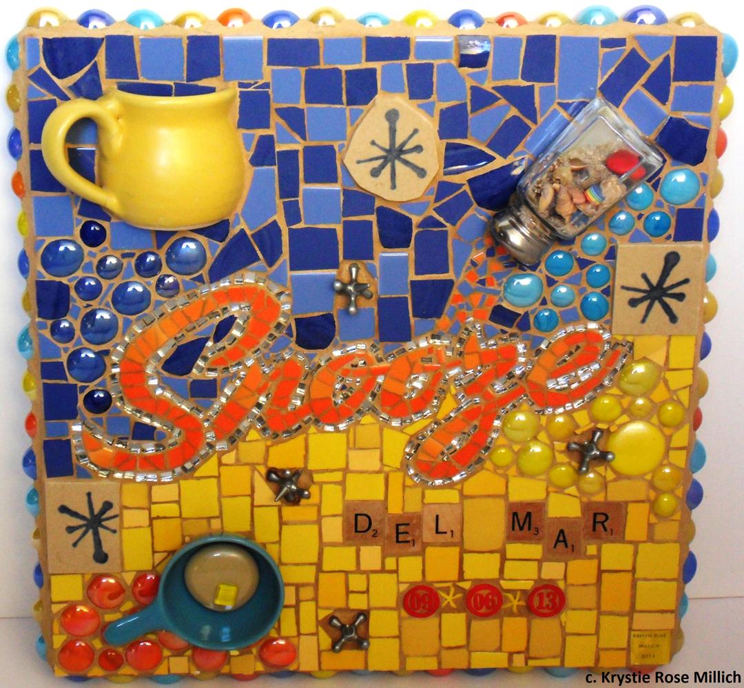 Krystie Rose Millich Denver tile mosaic artist snooze Del Mar mosaic gallery