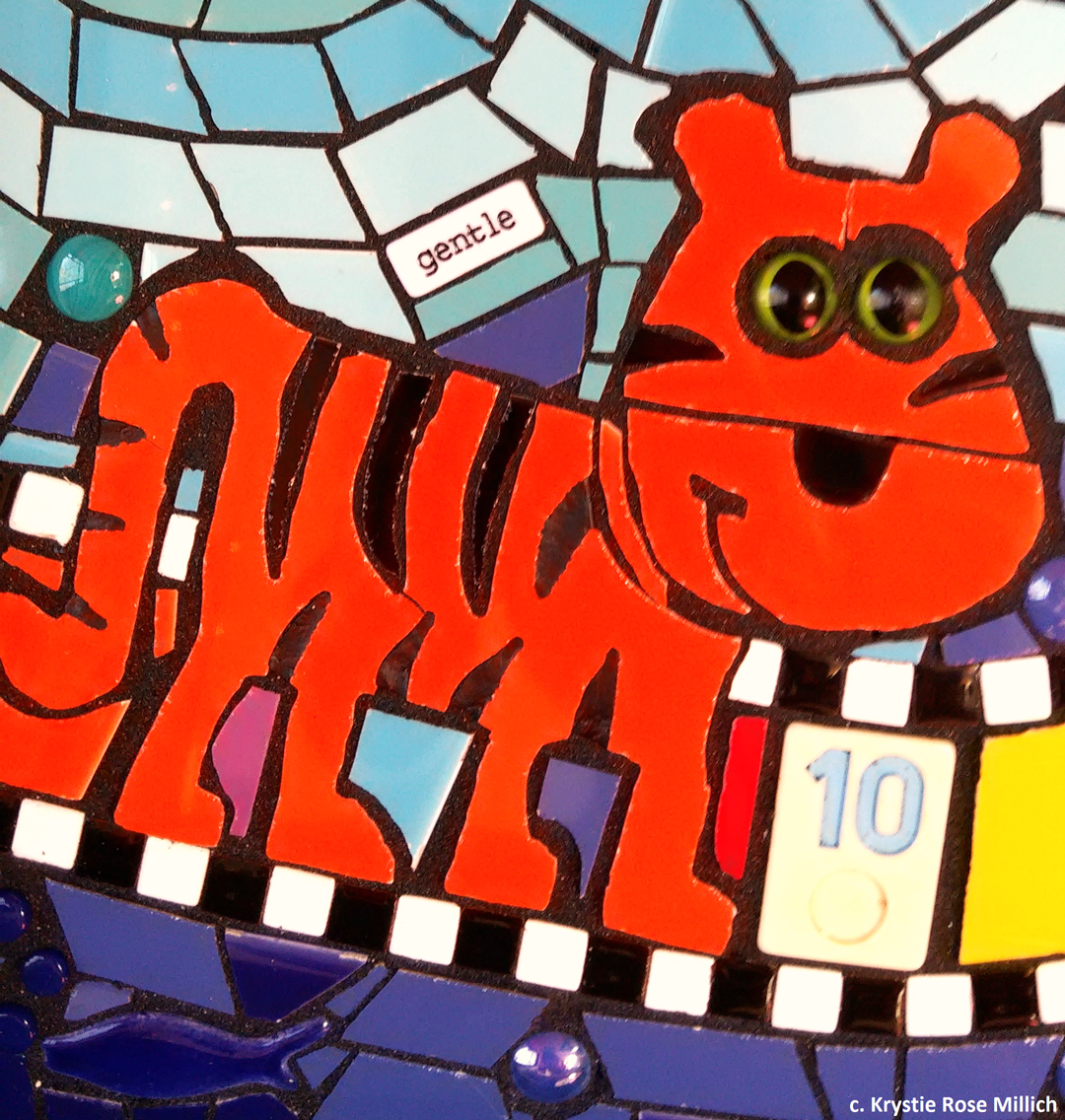 tile mosaic artwork by krystie rose millich in denver colorado children's explorers