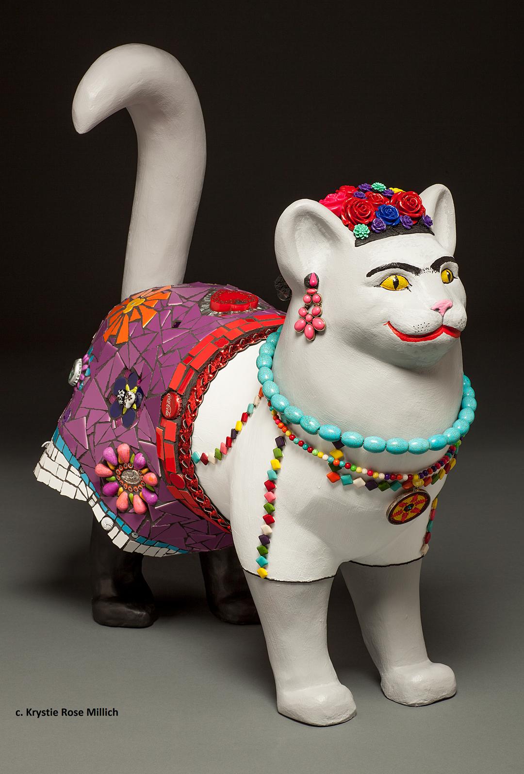 Denver tile mosaic artist krystie rose millich frida kat-lo