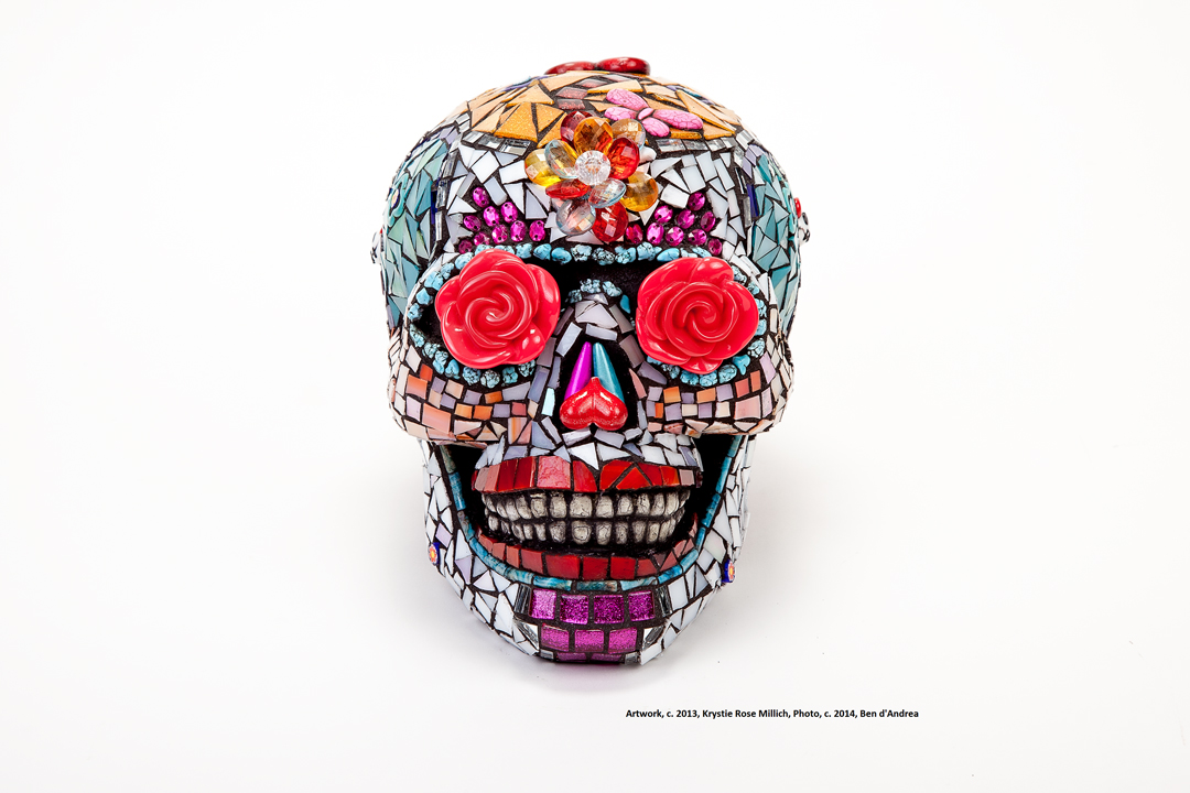 krystie rose millich skull design denver tile mosaic artwork